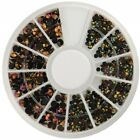 Blueness 1 Wheel Decoration Acrylic Crystal Nail Art Cellphone Accessory ZP076