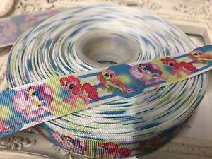 1 Metre My Little Pony Multicolour Rainbow Grosgrain Ribbon 22mm Cakes Bow Dummy