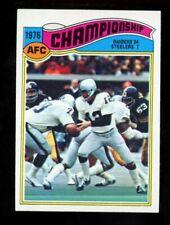 1977 Topps #526 AFC Championship Ken Stabler Oakland Raiders NM
