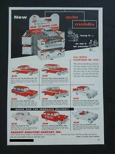 Vtg RARE 1956 DEALER Ad PMC Product Miniature 56' Chevrolet Car Corvette Bel Air