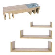 3 Tier Floating Wall Shelves Corner Shelf Storage Wood Display Bookcase Decor