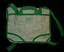 VINTAGE 1984 ORIGINAL CABBAGE PATCH KIDS CARRY DIAPER BAG BACKPACK GREEN & WHITE