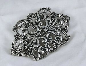 Butterflies Silver Plated Hair Barrette  France with 70mm Clip-Made in USA 6040S