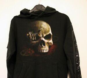 SPIRAL DIRECT steampunk gothic black sweatshirt hoodie 100% cotton - Alt kids