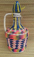 Ancienne bouteille liqueur déco file plastique vintage old french bottle