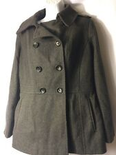 Michael Kors Jacket Women's Size Medium Wool Coat Gray MK Fall  Winter