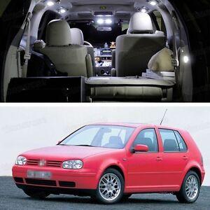 11x SMD LED White Light Interior Package Deal for Volkswagen Golf MK4 1997-2001