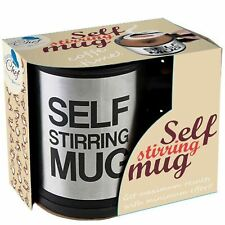 Self Stirring Coffee Mug, 8 oz Stainless Steel by Chuzy Chef, Great Gift Idea!