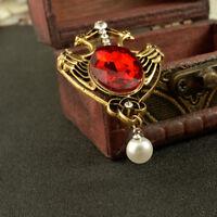 Flamingo Bird Wonderland Lapel Scarf Brooch Pin Badge Women Elegant Jewelry