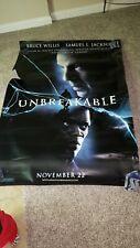 2000 Rolled Vinyl Banner 4 x 6 Feet Unbreakable Bruce Willis Samuel L Jackson
