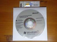 Microsoft Windows 7 Professional (SP1) 64bit + (Lizenz Key OEM) Neu
