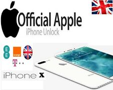 Factory Unlocking Service for IPhone X Orange & T-mobile EE BT