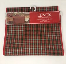 Lenox Christmas Plaid 14 X 70 Red Green Gold Table Runner