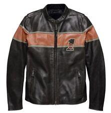 Genuine Harley-Davidson Mens Victory Lane Leather Jacket 98027-18em XXL 2xl