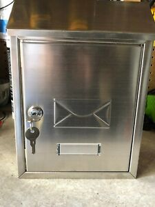 Gibralter Locking Wall Mount Mailbox, Rustproof Stainless Steel with 2 Keys