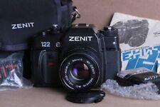 Zenit 122 35mm Film SLR Camera Helios-44M-7 58mm Lens & Black Zenit Case
