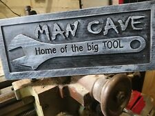 Funny Wooden Man Cave Sign, Fathers Day Gift