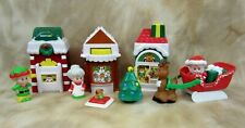 Fisher-Price Little People Christmas Village Main Street Santa Figures melody