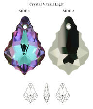 Genuine SWAROVSKI 6090 Baroque Pendant Crystal Vitrail Light 22x15mm