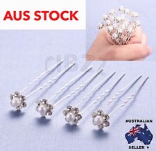 20x Hair Pins Crystal Pearl Bridal Wedding Bun Accessory Rhinestone Clip U shape