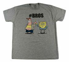 Mens Spongebob Squarepants Patrick #BROS Shirt New L Licensed Gray Nickelodeon