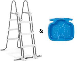 Intex 28075 Escalera de Seguridad & 29080 Baño Pies Accesorio Piscina