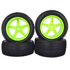 4PCS RC 1/10 Off-Road Buggy Front & Rear Tyres Tires &Wheels Rim 66048-66058