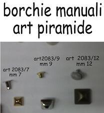 100 borchie piramide art 2083-7     7 mm 100 borchie manuali colore oro