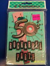 Fabulous 50's Rock N' Roll Retro Sock Hop Theme Party Invitations w/Envelopes