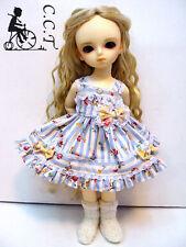 C.C.T Yo SD Super Dollfie BJD outfit Blue floral stripe slipdress