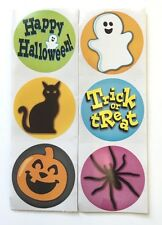 100 Happy Halloween Trick or Treat Stickers Party Favors Teacher Supply Spider