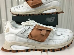 New Balance Utility X-Racer White LEATHER Tan Gum Sole 15 MSXRCTUC Mens Sneakers