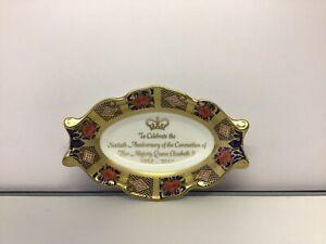 Royal Crown Derby Coronation Imari Silver Tray