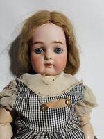 "antique simon & halbig 22"" bisque head doll"