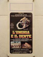 L'UNGHIA E IL DENTE documentario natura regia Bel e Vienne locandina orig. 1976