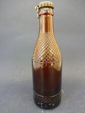Vintage Buchanan's Black & White Whiskey Bottle Cap on Brown Glass Bottle