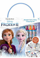 Disney Frozen 2 Bumper Carry Along Colouring Set Crayons Travel Activity Kids