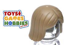 *NEW* LEGO 1x Minifig Wig Hair - Sand Yellow- Girl - Female Straight Short Woman