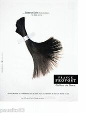 PUBLICITE ADVERTISING 116  2002   Franck Provost coiffeur  stars  Béatrice Dalle