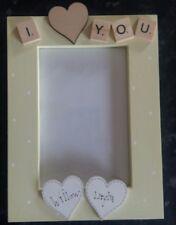 "Bespoke Personalised I love you photo Frame 6""x4"" scrabble art gift keepsake"
