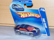 Ford Fusion Police Cruiser HW City Works Hot Wheels Modell Auto Muscle Car Rod