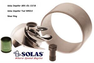 Solas SeaDoo 4Tec 215 Impeller SRX-CD-13/18 w/ Wear Ring & Tool GTX RXP RXT Wake