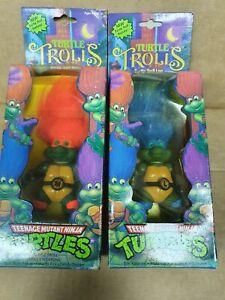 Teenage Mutant Ninja Turtles TROLL LEO & MIKE  Playmates 1992 UNUSED FREESHIP!