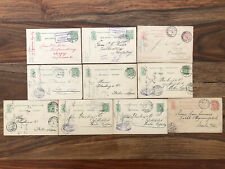 10 X LUXEMBOURG OLD POSTCARD COVER COLLECTION LOT GARE !!