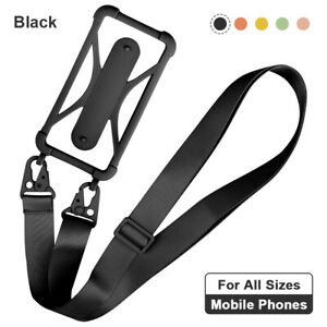 Universal Silicone Lanyard Case Cover Mobile Phone Holder Sling Neck Strap Band