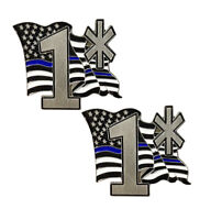 Thin Blue Line American Flag One Ass To Risk Metal Lapel Pin