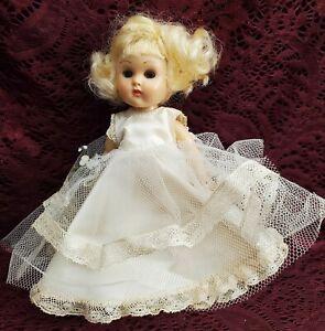 """Vintage Vogue """"Ginny"""" Walker Bride? Doll Hard Plastic Sleep Eyes Cute"""