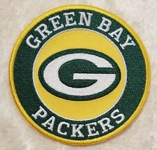 Green Bay Packers Big Round Iron On Embroidered Patch ~USA Seller~FREE Ship!