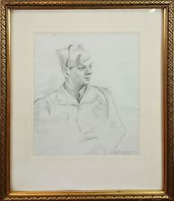 SOLDIER PORTRAIT. CARBON DRAWING. C. RICART. TWENTIETH CENTURY.