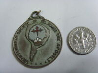 Antique 1958 catholic Saint James the apostle society pendant faith relic 50381